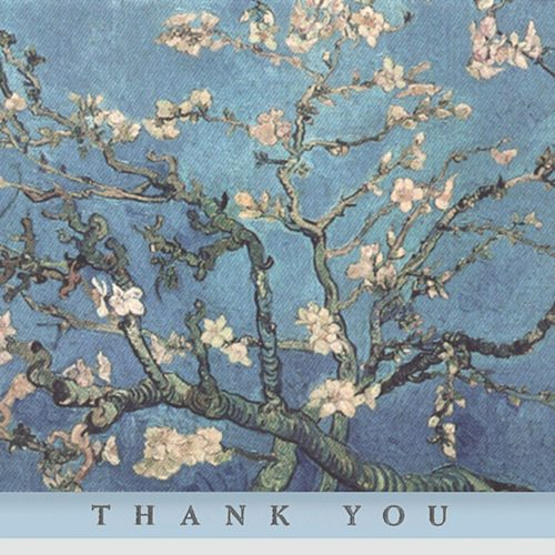 Peter Pauper Press Boxed Thank You Note Cards - Almond Blossom