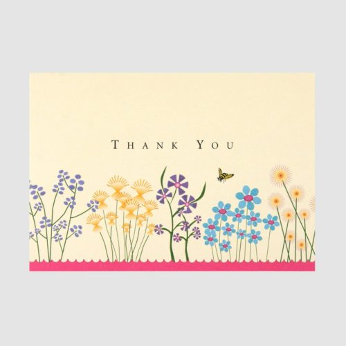 Peter Pauper Press Boxed Thank You Note Cards - Sparkly Garden