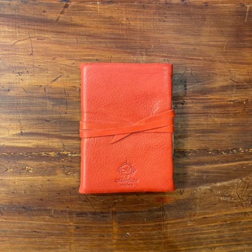 Amalfi Leather Journal - Red Medium