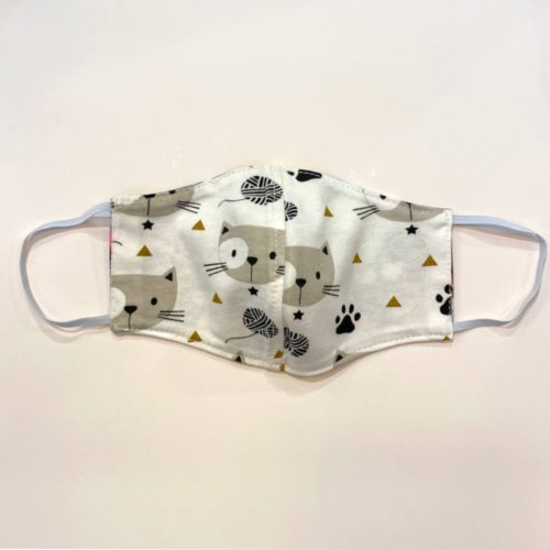 Reversible Cotton Face Mask - Cats in Their Hats/Fun Kitty