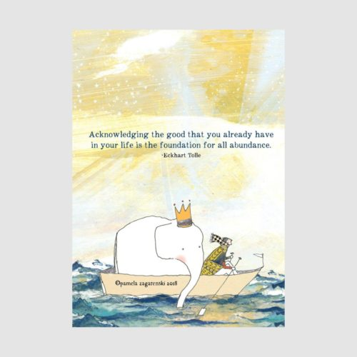 Sacred Bee Card - Acknowledging