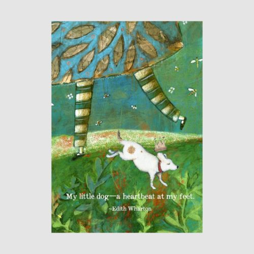 Sacred Bee Card - Little Dog