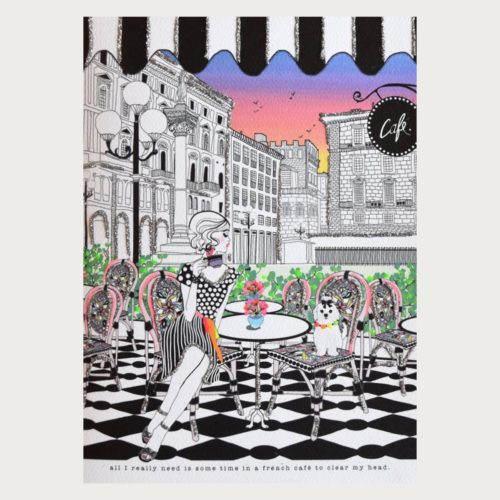 Verrier Card - Some Time In A French Cafe