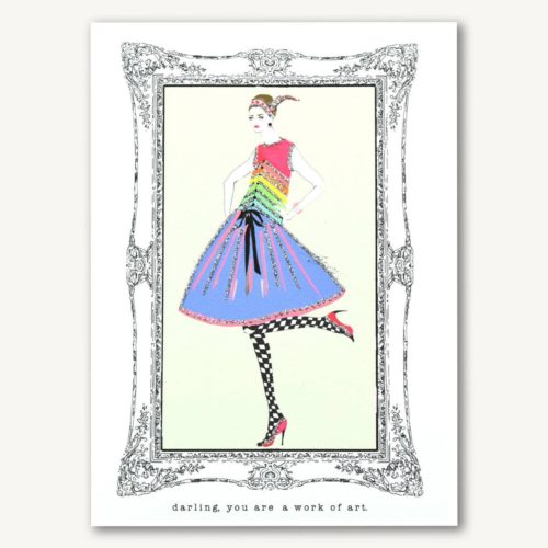 Verrier Card - Darling, You Are A Work Of Art