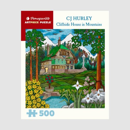 500-Piece Jigsaw Puzzle - Cj Hurley: Cliffside House In Mountains