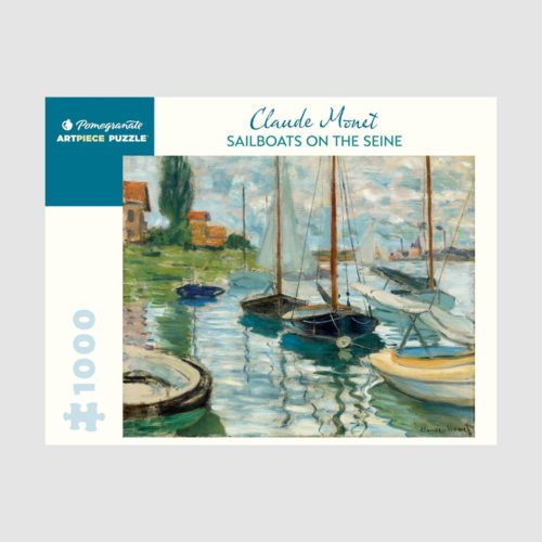 Pomegranate 1000 Piece Puzzle - Sailboats On The Seine by Claude Monet