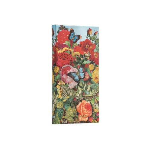 Paperblanks 2021 Horizontal Weekly Diary - Butterfly Garden Slim