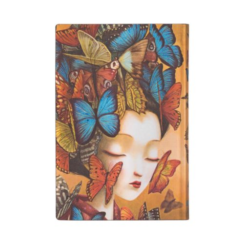 Paperblanks 2021 Horizontal Weekly Flexi Diary - Madame Butterfly Mini