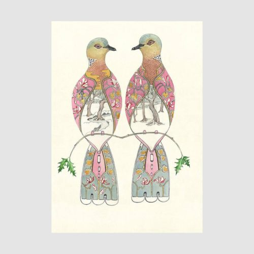 Daniel Mackie Card - Two Turtle Doves