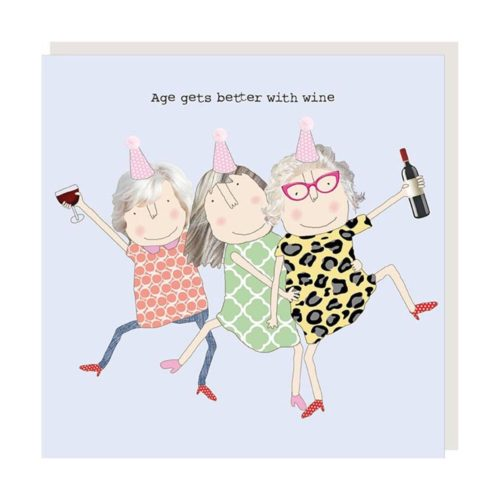 Rosie Made A Thing Card - Age Wine Girl