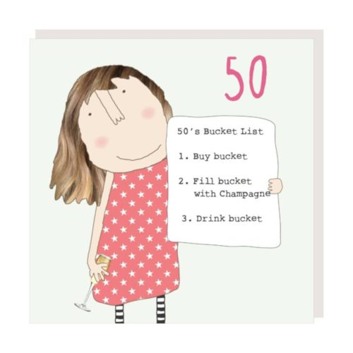 Rosie Made A Thing Card - Girl 50 Bucket List