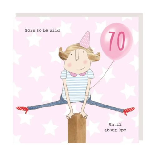 Rosie Made A Thing Card - Girl 70 Wild