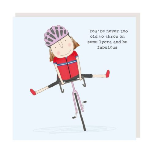 Rosie Made A Thing Card - Lycra Girl