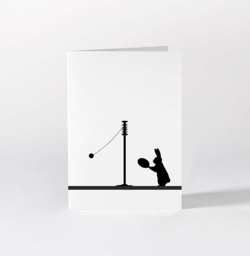 HamMade Card - Swingball Rabbit