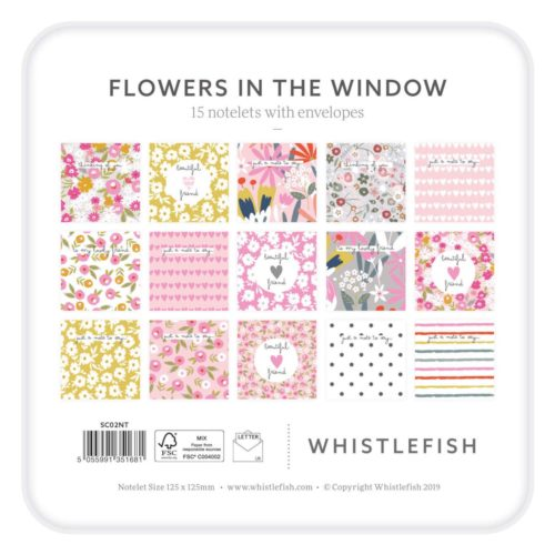 Whistlefish Notelet Tin - Flowers in the Window