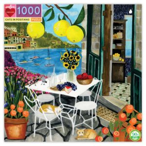 eeBoo 1000 Piece Puzzle – Cats in Positano