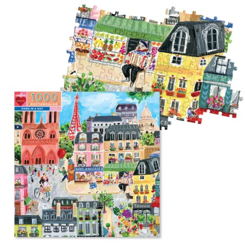 eeBoo 1000 Piece Puzzle - Paris In A Day
