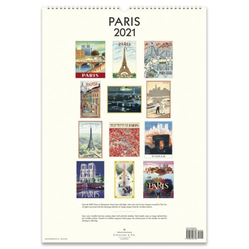 Cavallini & Co. 2021 Wall Calendar - Paris