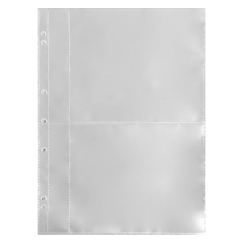Polypropylene Binder Sleeves A4 25 Pack – 2 Pocket with Slip