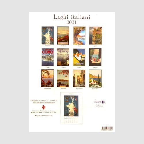 IFI Medium 2021 Wall Calendar - Laghi Italiani