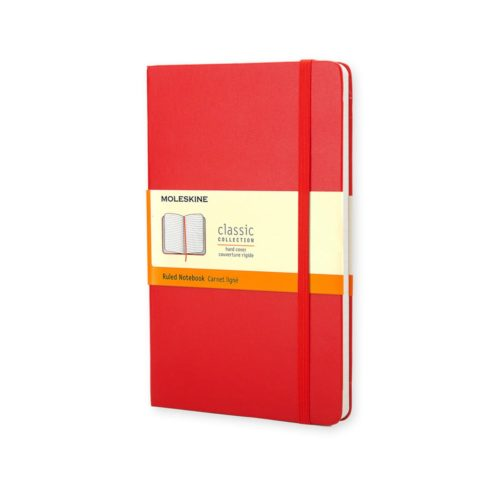 Moleskine Classic Hardcover Journal – Large – Ruled - Scarlet Red