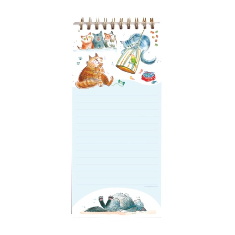 Magnetic Shopping List - Happy Cats