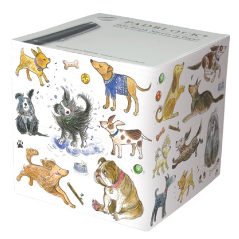 Notepad Cube 800 Sheets - Happy Dogs