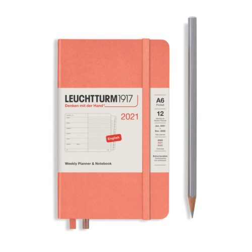 Leuchtturm 2021 Weekly Planner and Notebook - Bellini, A6