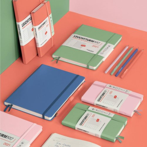Leuchtturm 2021 Weekly Planner and Notebook - Sage, A5