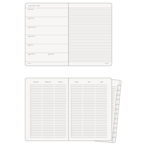 Leuchtturm 2021 Weekly Planner and Notebook - Powder, A5