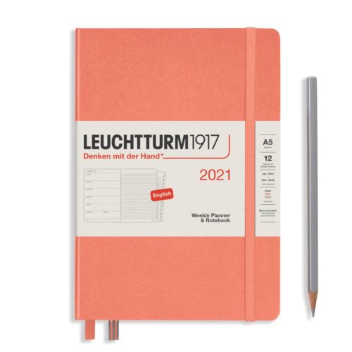 Leuchtturm 2021 Weekly Planner and Notebook - Bellini, A5