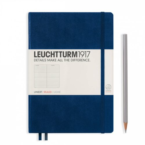 Leuchtturm Hardcover A5 Notebook - Navy, Lined