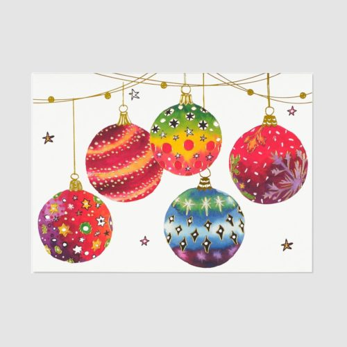 Deluxe Boxed Christmas Cards - Festive Ornaments