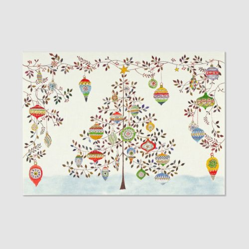 Deluxe Boxed Christmas Cards - Watercolour Ornament Tree