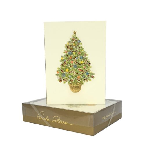 Luxury Boxed Christmas Cards – Tree in Pot