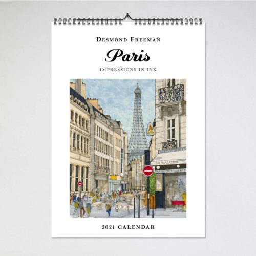 Blue Island Press Wall Calendar 2021 - Desmond Freeman Paris