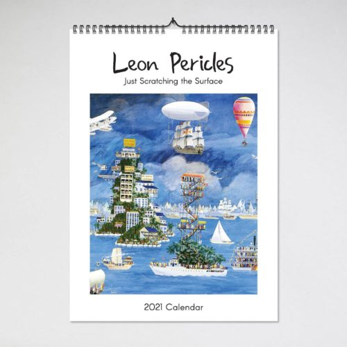 Blue Island Press Wall Calendar 2021 - Leon Pericles