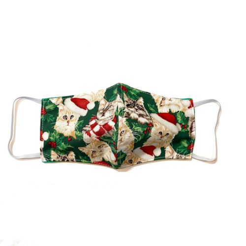 Reversible Cotton Face Mask – Christmas Cats