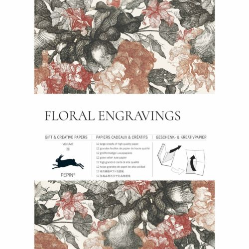 Gift and Creative Papers Book Vol. 79 - FLORAL ENGRAVINGS