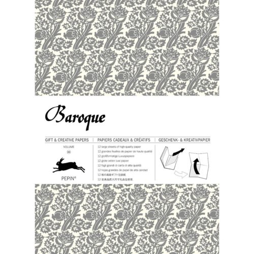 Gift and Creative Papers Book Vol. 86 - BAROQUE SILVER