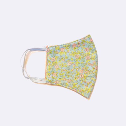 Reversible Cotton Face Mask - Blue Garden/Pink Dot