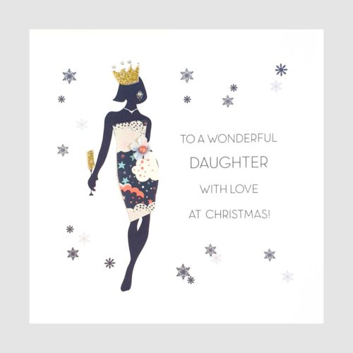 Souvenir d'Noel Christmas Card - Wonderful Daughter