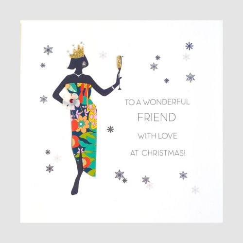 Souvenir d'Noel Christmas Card - Wonderful Friend with Love