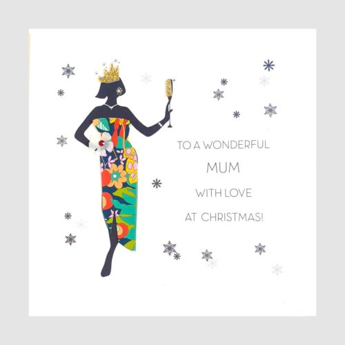 Souvenir d'Noel Christmas Card - Wonderful Mum