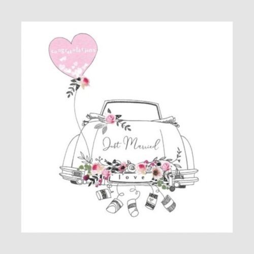 Piccadilly Extra Large Card - Wedding Car