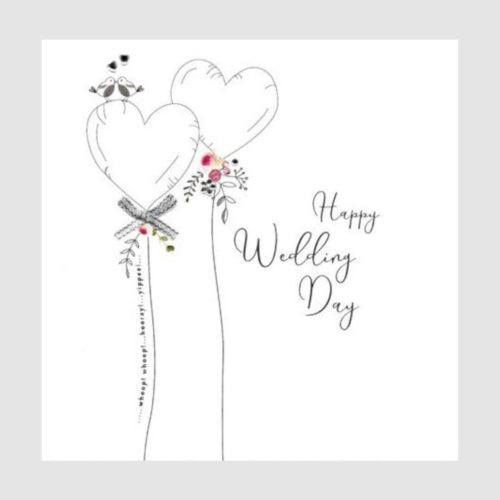 Piccadilly Extra Large Card - Wedding Heart Balloons