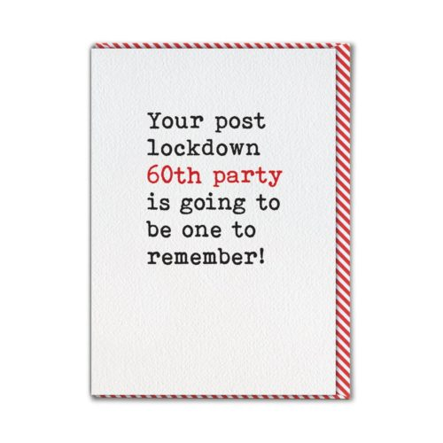 Type. Card - Post Lockdown 60th Party