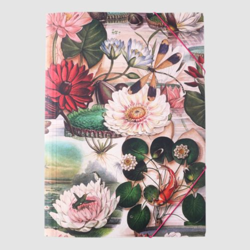 Bomo Elastic Folder - Water Lilies