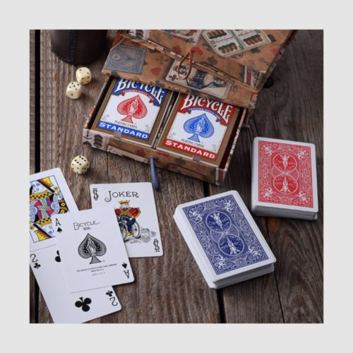 Bomo Boxed Playing Cards - Burgundy