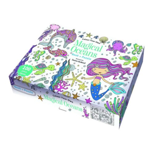 Colour Your Own Magical Oceans Book and Puzzle
